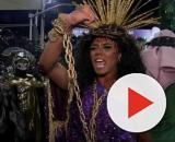 Evelyn Bastos interpretou a face de Jesus como mulher no carnaval, intrigando muitas pessoas. (Reprodução/TV Globo)