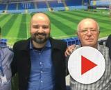 Novo treinador do Avaí, Rodrigo Santana (último da direita), em sua chegada ao clube. (Divulgação/Avaí F.C)