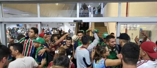 Festa maranhense na chegada do Flu a São Luís. (Arquivo Blasting News)