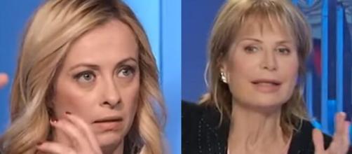 Giorgia Meloni e Lilli Gruber protagoniste di un botta e risposta.
