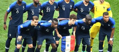Nella foto la Francia campione del mondo a Russia 2018.