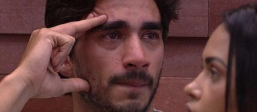 Após a saída de Bianca do BBB, Gui e Gabi se desentenderam. (Reprodução/TV Globo)