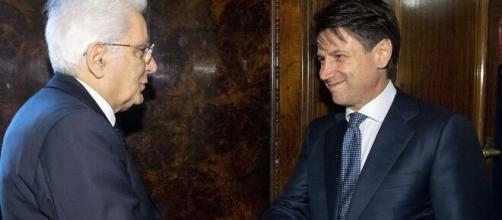 Il capo dello Stato Sergio Mattarella e il Presidente del Consiglio Giuseppe Conte