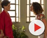 """Lídia e Penha em cena da novela """"Amor de Mãe"""". (Reprodução/TV Globo)"""