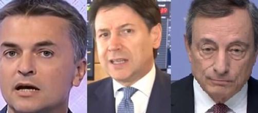 Edoardo Rixi, Giuseppe Conte e Mario Draghi.