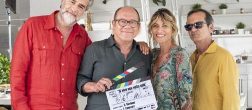 Il cast del film di Carlo Verdone 'Si vive una volta sola'.