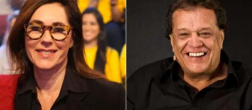 Christiane Torloni e Dennis Carvalho perderam o filho de 12 anos atropelado por acidente pela mãe. (Reprodução:TV Globo/fotomontagem)