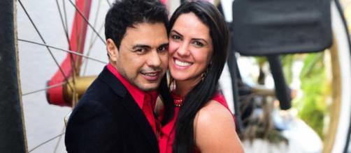 Graciele Lacerda tem apoiado Zezé Di Camargo na situação de saúde do seu Francisco. (Arquivo Blasting News)