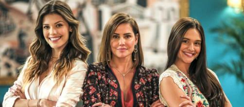 """Helena aparecerá na casa de Emelinda e surpreenderá Luna/Fiona em """"Salve-se quem puder"""". (Reprodução/TV Globo)"""
