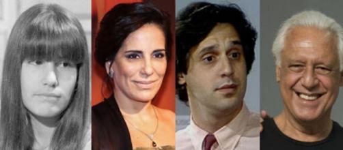 5 atores que participaram da novela 'Dancin' Days'. (Fotomontagem)