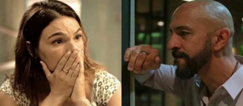 Betina (Isis Valverde) e Álvaro (Irandhir Santos) em 'Amor de Mãe' (Foto: TV Globo).