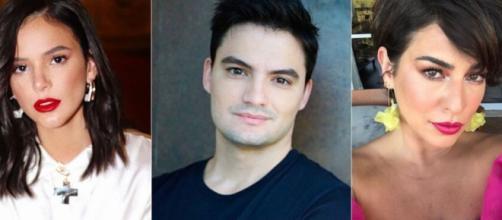 Bruna Marquezine, Felipe Neto e Fernanda Paes Leme já reclamaram dos homens do 'BBB20'. (Fotomontagem)