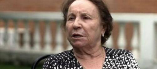 Dona Maria do Céu em entrevista ao programa Fantástico, da TV Globo. (Reprodução/TV Globo)
