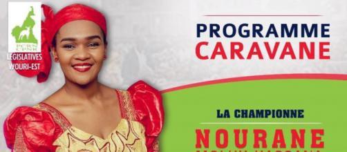 La candidate à la députation Nourane Fotsing pour le compte du PCRN du double scrutin du 9 février 2020 (c) Nourae Fotsing