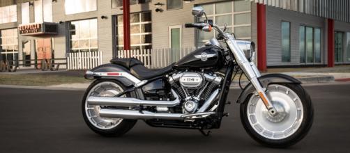La celebre Fat Boy, uno dei modelli di punta della Harley Davidson.