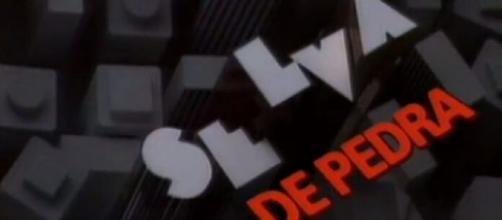 Logotipo da segunda versão de Selva de Pedra (1986), que estreia no Viva em substituição a 'Terra Nostra'. (Reprodução/Memória Globo)