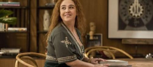 Miranda tem sido alívio cômico de 'Amor de Mãe'. (Divulgação/TV Globo)
