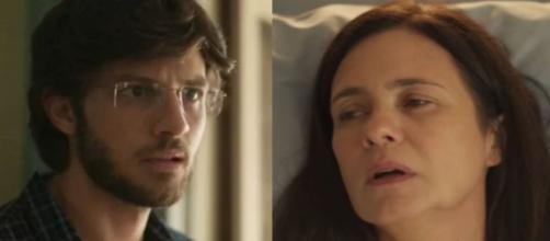 Thelma (Adriana Esteves) vai servir de barriga de aluguel ao filho na trama 'Amor de Mãe'. (Reprodução/Globo)