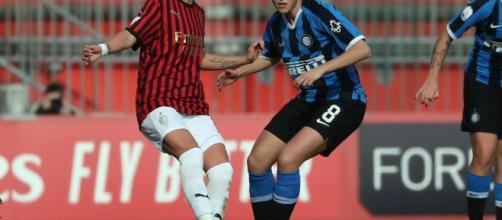 Valentina Giacinti, attaccante e capitano del Milan femminile.