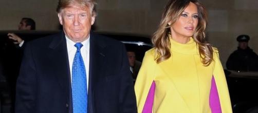 El presidente Donald Trump y su esposa Melania.