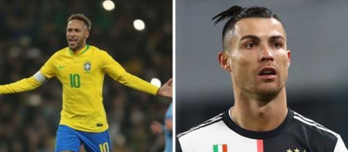 Neymar e Cristiano Ronaldo fazem aniversário no mesmo dia. (Fotomontagem)