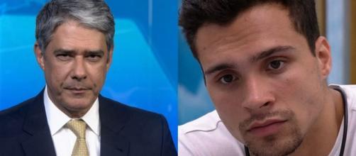 Petrix Barbosa vira notícia do Jornal Nacional. (Reprodução/TV Globo)