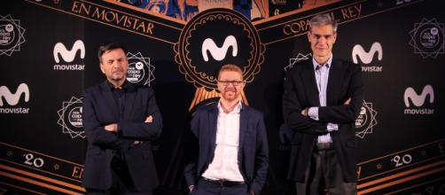 Bropi, Sergio Oslé y Antonio Martin en la presentacion de la copa del rey
