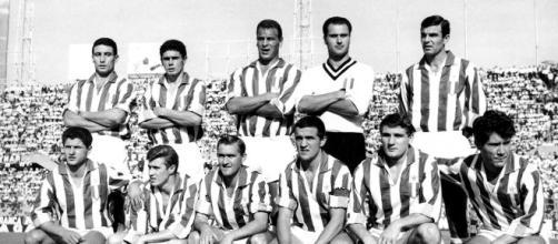 Juventus stagione 1961-1962, nella foto presente anche Benito Sarti.