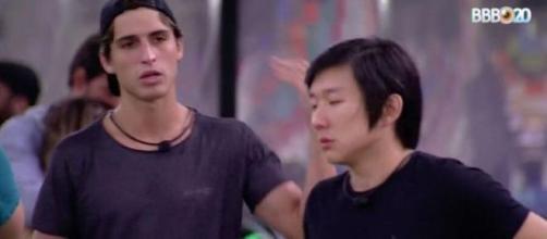 Pyong reflete sobre resultado do paredão. (Reprodução/TV Globo)