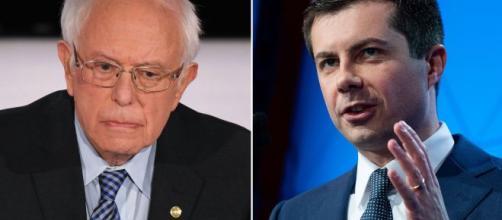 Bernie Sanders e Pete Buttigieg estão tecnicamente empatados na polêmica prévia democrata de Iowa. (Arquivo Blasting News)