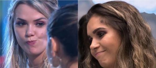 Gizelly e Marcela estão cada vez mais próximas no confinamento. (Reprodução/TV Globo)