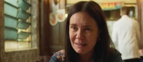 Thelma parte para o tudo ou nada para ter seu neto. (Reprodução/TV Globo)