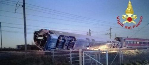 Treno deraglia in provincia di Lodi.