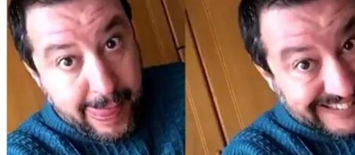 Una foto social di Matteo Salvini usata dal Pd contro lo spreco alimentare.