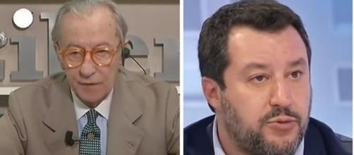 Vittorio Feltri e Matteo Salvini.