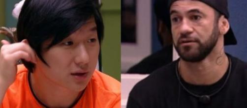 'BBB20': Após sentir que a conversa entre Daniel e Hadson poderia não ser boa, Pyong tentou intervir e foi xingado. (Reprodução/ TVGlobo).