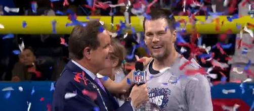 Brady has set a lofty goal for next season. [Image Source: NFL/YouTube]