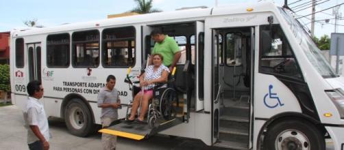 Transporte modelo para personas con discapacidad.