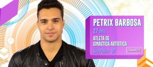 """Delegacia da Mulher intima Petrix, do """"BBB20"""", a prestar depoimento. (Reprodução/ TV Globo)"""