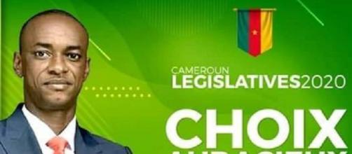 Le candidat à la députation du Nyong Ekelle du double scrutin 2020, Cabral Libii (c) Cabral Libii