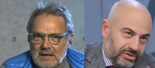 Oliviero Toscani e Gianluigi Paragone.