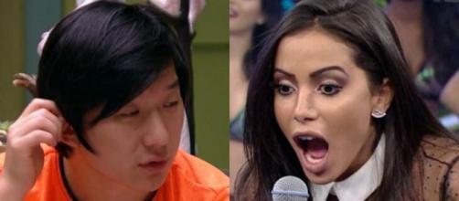 """Pyong Lee revelou que já hipnotizou a cantora Anitta e deu detalhes em conversa no """"BBB20"""". (Reprodução/TV Globo)"""