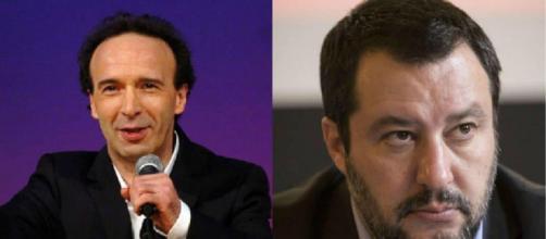 Roberto Benigni, ospite del Festival di Sanremo, ha ironizzato su Matteo Salvini.