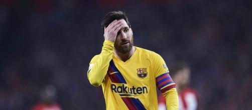 El lamento de Messi, el capitán del Barcelona.