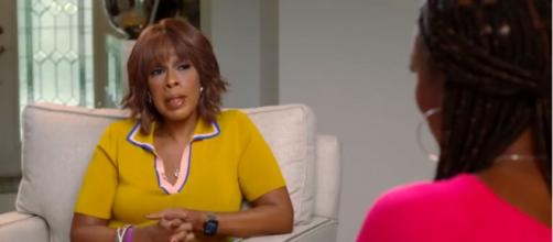 Gayle King during her interview with WNBA star Lisa Leslie. [Image source: CBS This Morning/YouTube]