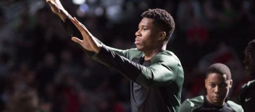 Giannis Antetokounmpo would be the leader on Team World. [Image Source: Flickr | Dan Garcia]