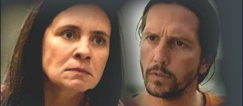 """Em """"Amor de Mãe"""" Thelma e Davi terão suas vidas viradas de cabeça para baixo. (Fotomontagem/Reprodução Globo)."""