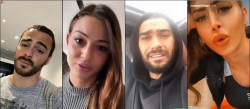 Alix s'attaque au physique d'Océane et Marine, Julien Guirado la recadre et fait des révélations sur son passé. ®Snapchat.