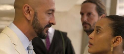 Álvaro e Vitória terão um novo embate, nesta terça (10), em 'Amor de Mãe'. (Reprodução/TV Globo)