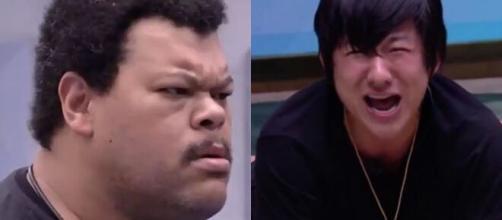 Babu soltou que Pyong não precisaria de ajuda para se queimar. (Reprodução/ TV Globo).